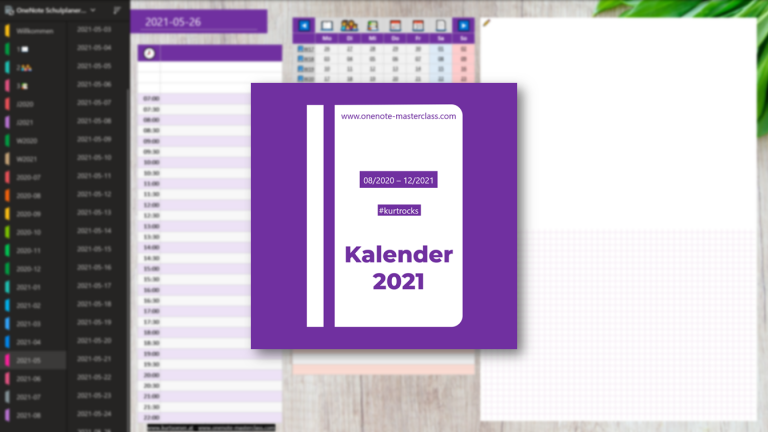 OneNote Kalender 2021